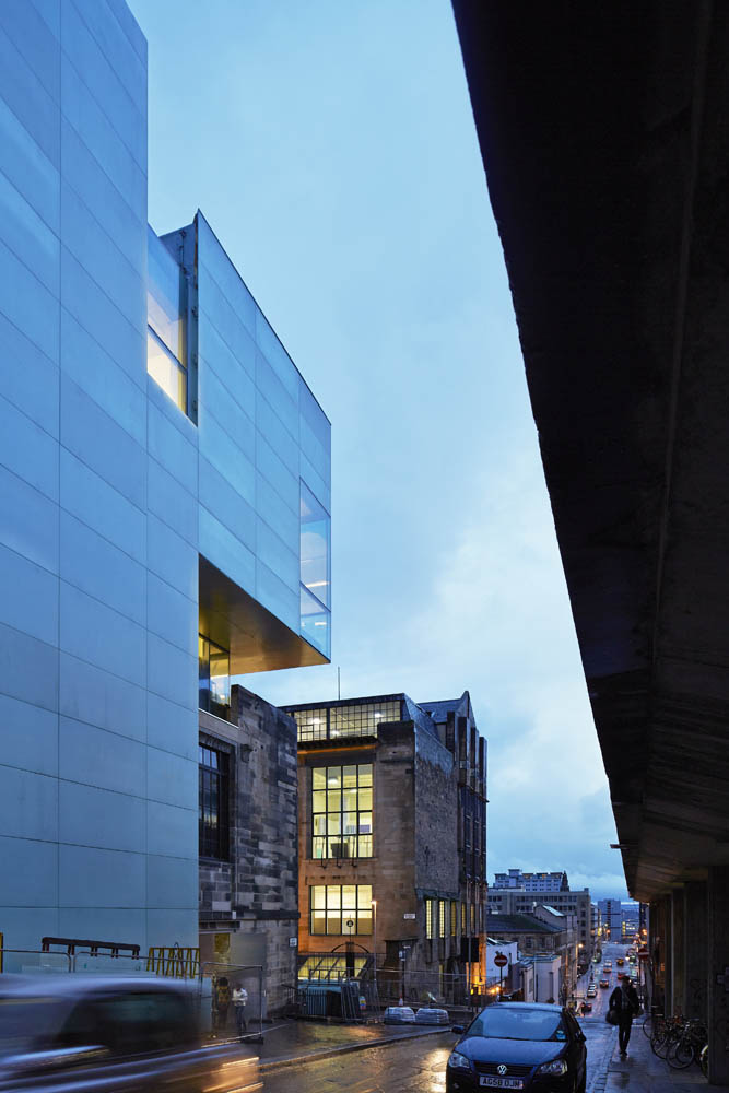 The Glasgow School of Art, The Reid Building, Glasgow, United Kingdom. Architect: Steven Holl Architects, 2014.